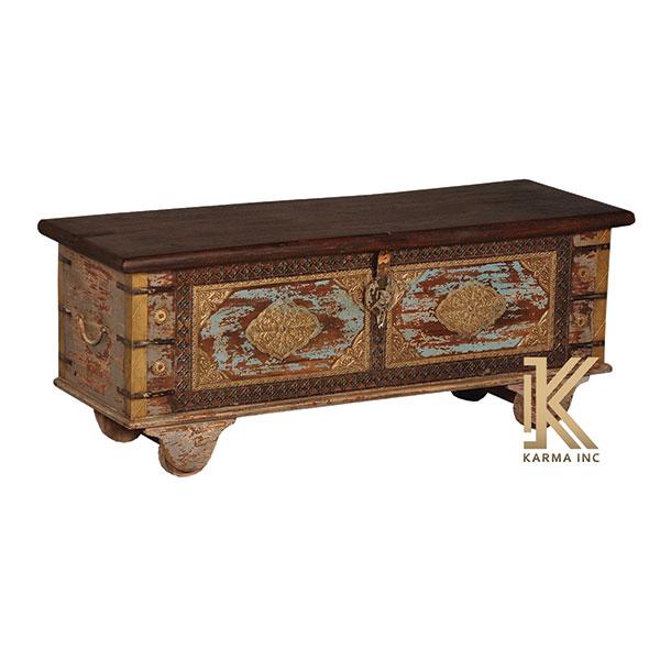 Antique storage coffee table