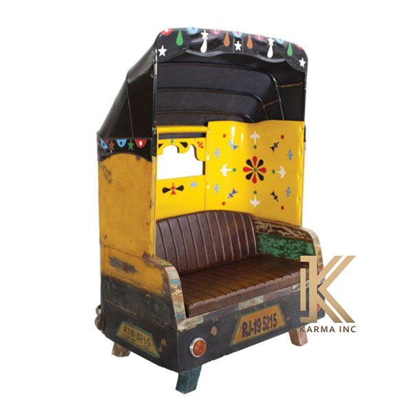 indian taxi seater industrial style