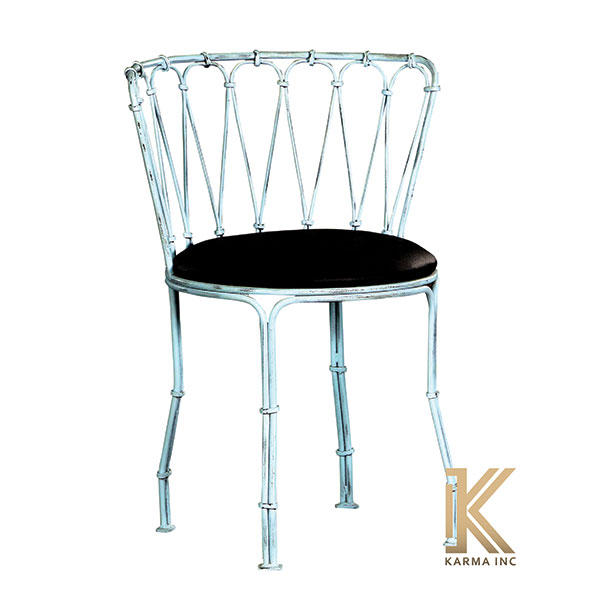 industrial chair with cushioning