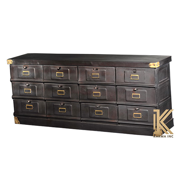 industrial metal chest cabinet