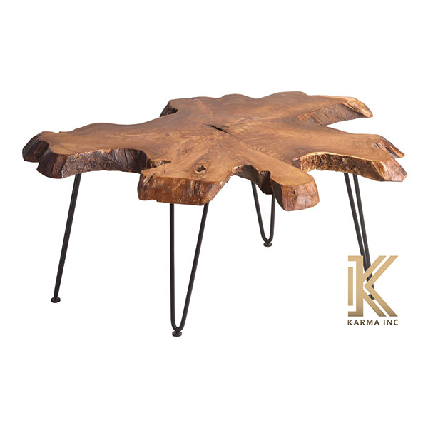 industrial live edge low table