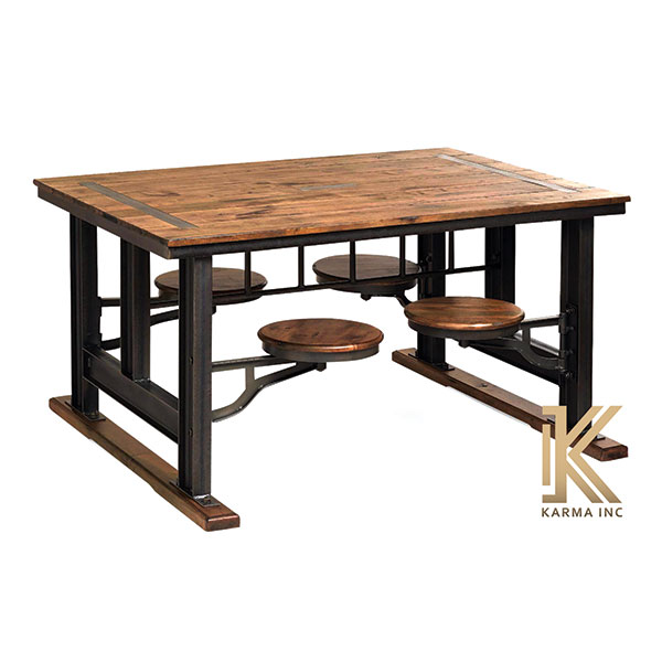 industrial 4 seater with table