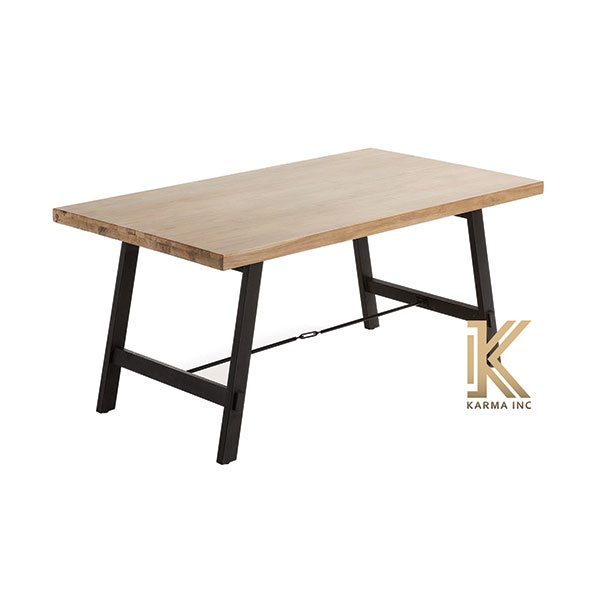 industrial wooden top dinning table