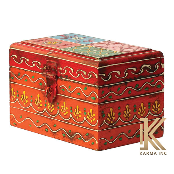 painted wooden box
