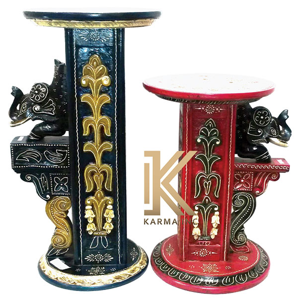 wooden painted end tables
