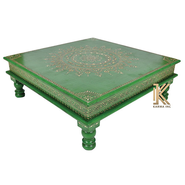 wooden painted low table