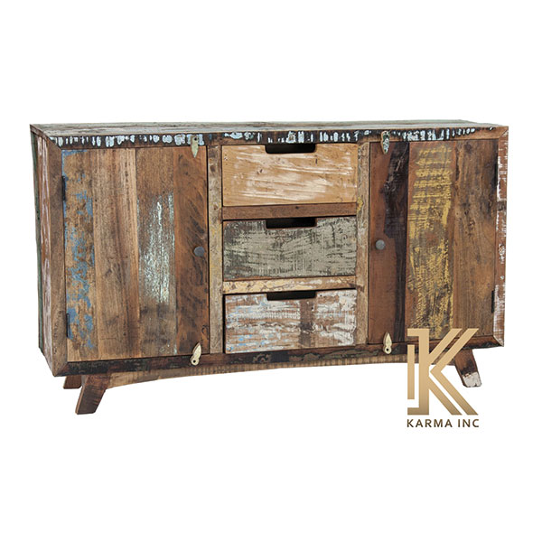 reclaimed teak sideboard