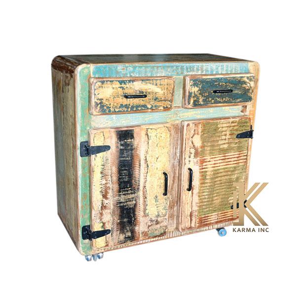 wooden reclaimed mini sideboard