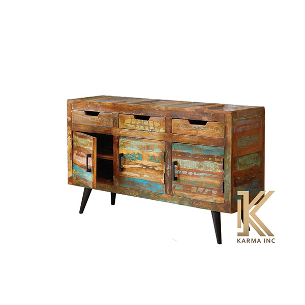 wooden reclaimed sideboard