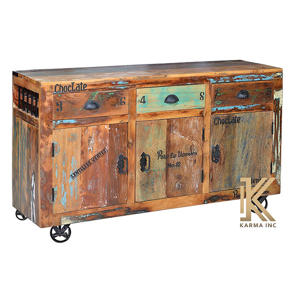 karma inc wooden reclaimed sideboard