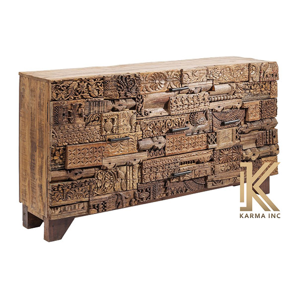 wooden reclaimed sideboard