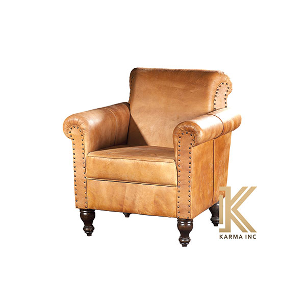 leather Upholstered arm chair