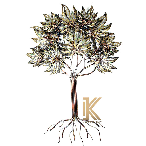 karma inc wall decor item metal tree