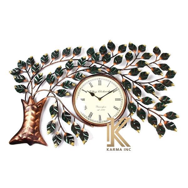 karma inc wall decor item metal tree clock