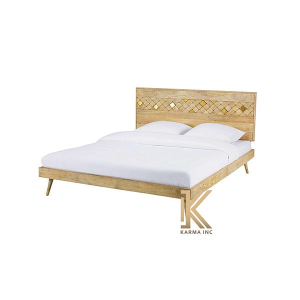 mango wood modern bed