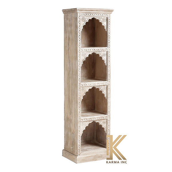 wooden carving bookcase