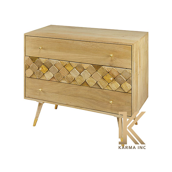 mango wood modern chest