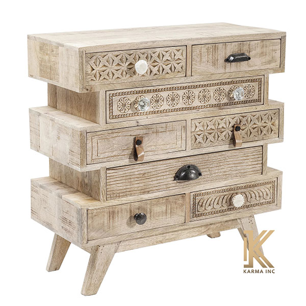 wooden chest drawer carving design