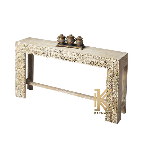 wooden carving console table