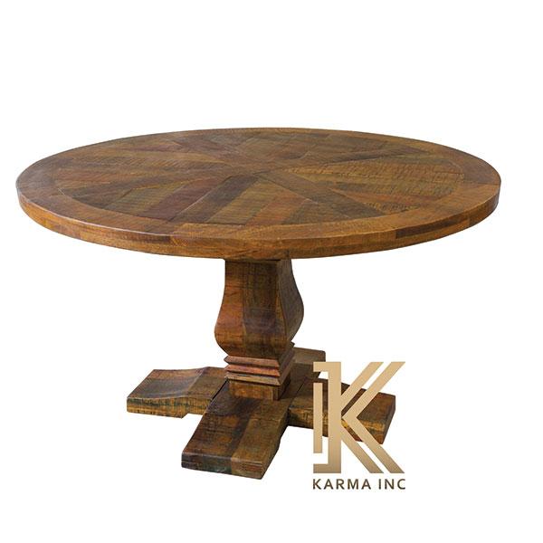 wooden round dinning