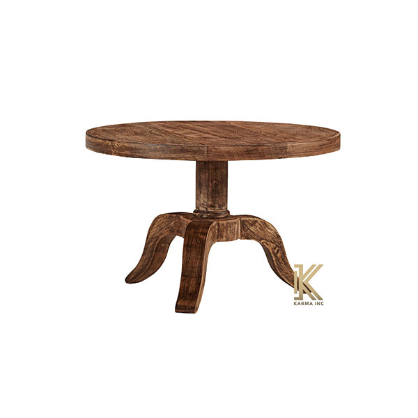 wooden round bistro table