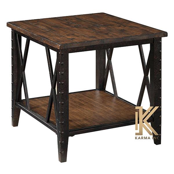 wooden table dark finish