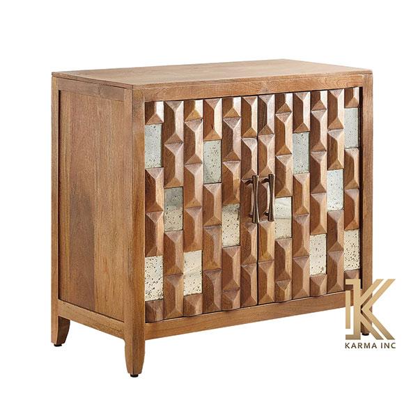 wooden mini sideboard