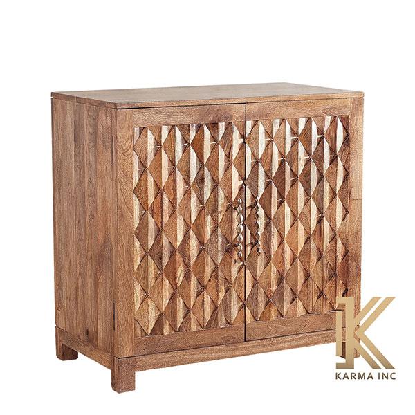 mango wood mini sideboard