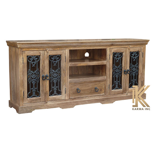 mango wood jali sideboard